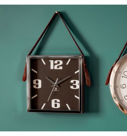 Gallery Seymour Clock with Faux Leather Strap