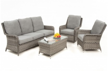 Astonishing Maze Rattan Victoria 3 Seat High Back Sofa Set Caraccident5 Cool Chair Designs And Ideas Caraccident5Info