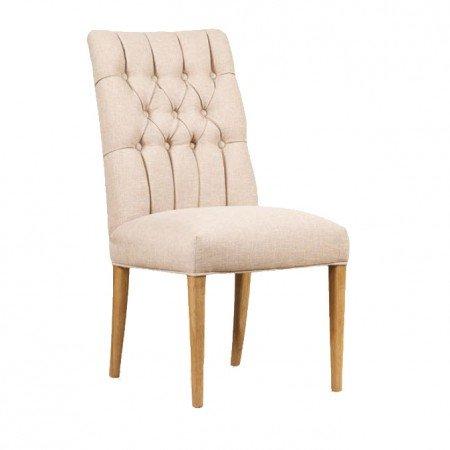 Mark Webster Linen Button Back Dining Chair