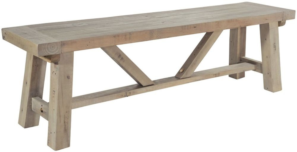Rowico Driftwood Large Dining Bench