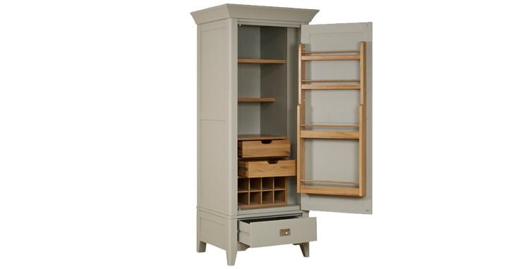 bordeaux small larder cupboard. Black Bedroom Furniture Sets. Home Design Ideas