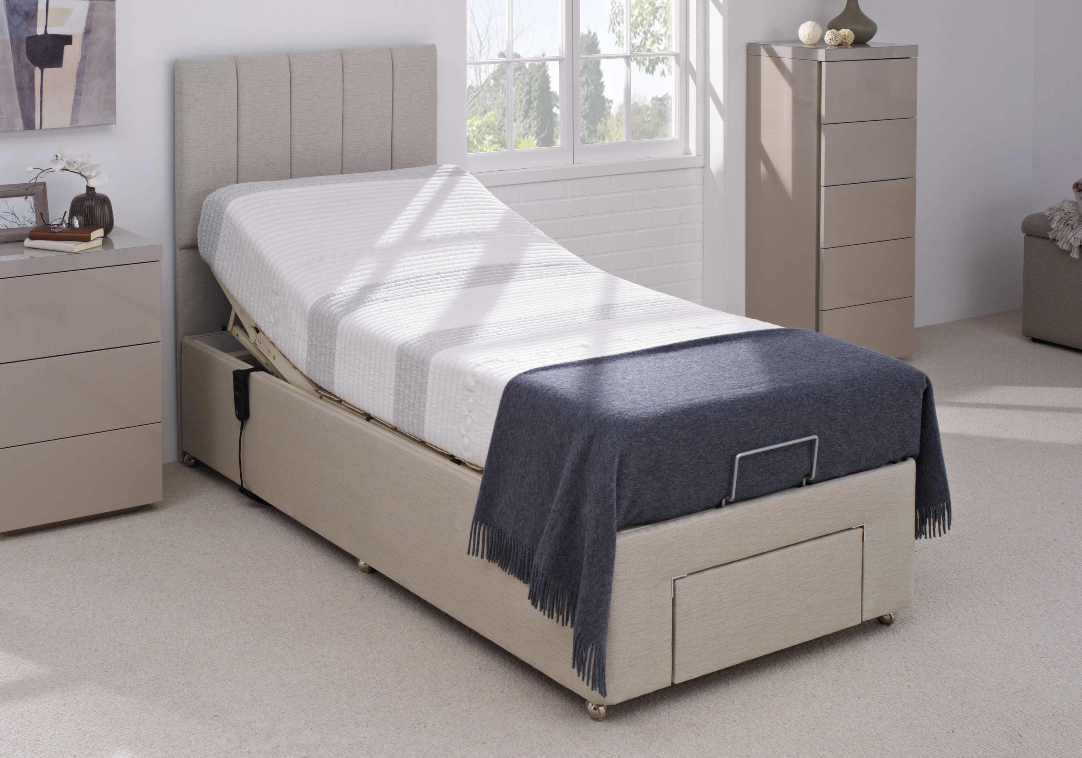 Electric Beds Ni : Mibed cool gel electric adjustable bed