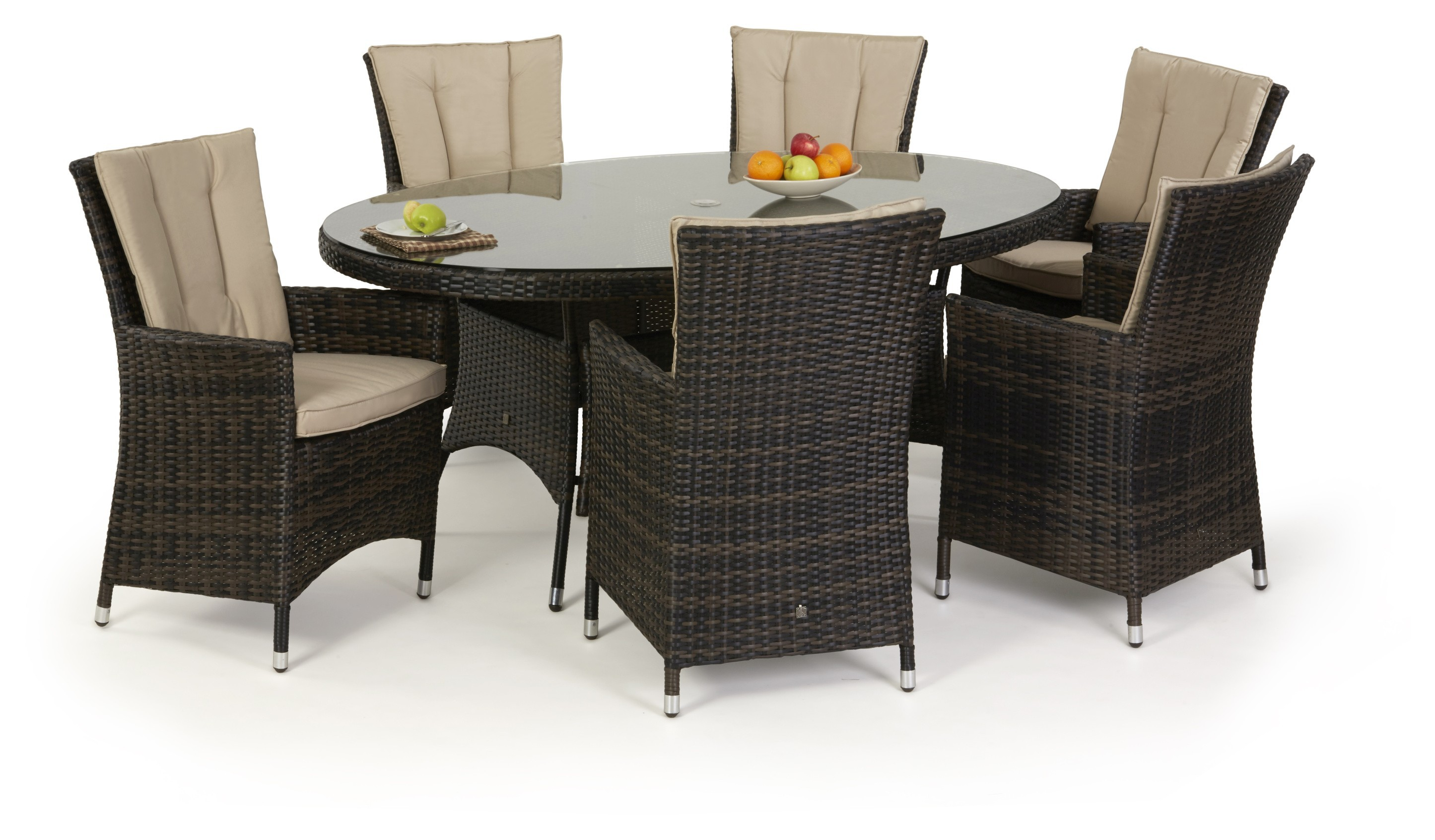 Maze Rattan La 6 Seat Oval Dining Set With Or Without Ice