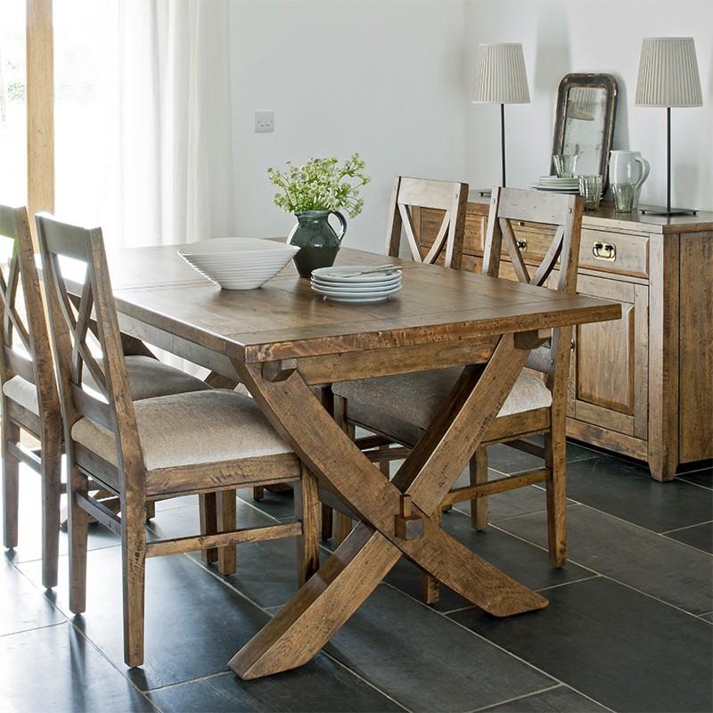 mango creek x leg dining table. Black Bedroom Furniture Sets. Home Design Ideas