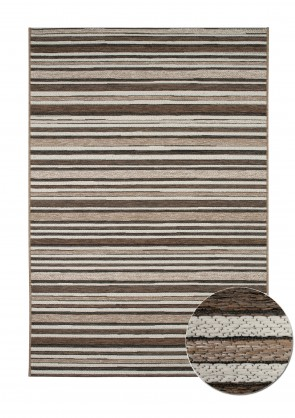 Brighton Rug Brown Stripe