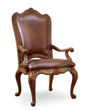 Universal Furniture Villa Cortina Leather Upholstered Back Arm Chair