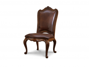 Universal Furniture Villa Cortina Leather Upholstered Back Dining Chair