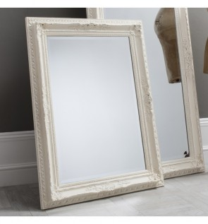 Gallery Buckingham Mirror in Vintage White
