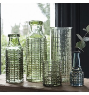 Gallery Pennington Bottle Vase with Wire Light Grey
