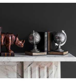 Gallery Atlas Pair of Globe Bookends