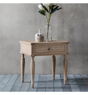 Gallery Mustique 1 Drawer Side Lamp Table