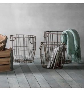 Gallery Leeton Metal Baskets Set of 3