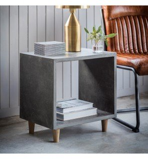 Gallery Bergen Cube Lamp Table