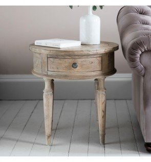 Gallery Mustique Round 1 Drawer Side Lamp Table