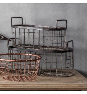Gallery Lonnie Metal Baskets Set of 2