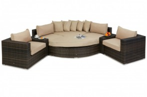 Maze Rattan Barcelona Deluxe Corner Sofa Set