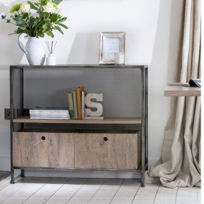 Baker Tannery Metal Console Table