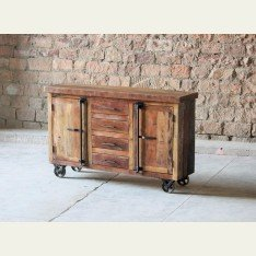 Little Tree Hyatt Canning Industrial Sideboard On Wheels