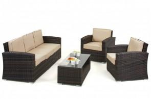 Maze Rattan Kingston 3 Seat Sofa Set