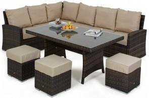 Maze Rattan Kingston Corner Sofa Dining Set
