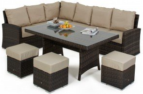 Maze Rattan Kingston Corner Sofa Dining Set