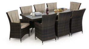 Maze Rattan LA 8 Seat Dining Set with or without Ice Bucket