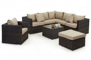 Maze Rattan London Corner Group with Chair and Ice Bucket