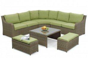 Maze Rattan Milan Corner Sofa Set