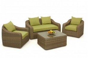 Maze Rattan Milan Rounded Sofa Set