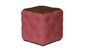 Vintage Sofa Company Cube Buttoned Footstool
