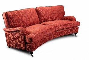 Vintage Sofa Company Hawksworth 4 Seater Curved Sofa
