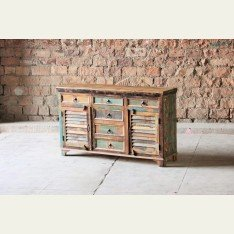 Little Tree Mary Rose 6 Drawer 2 Slatted Door Sideboard