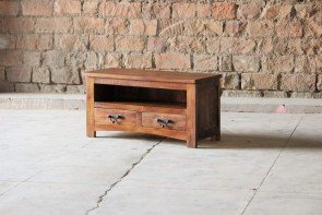 Little Tree Rustica Upcycled Small 2 Drawer TV Unit