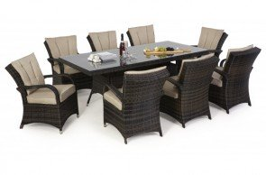 Maze Rattan Texas 8 Seat Rectangular Dining Set