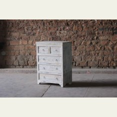 Little Tree Whiteleaf Upcycled Chest of 5 Drawers