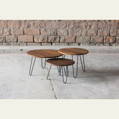 Little Tree Mary Rose Circular Nest Table Bundle of 3