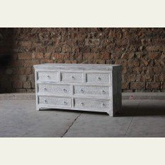 Little Tree Whiteleaf Upcycled Chest of 7 Drawers