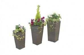 Maze Rattan Victoria Tall Planter Set