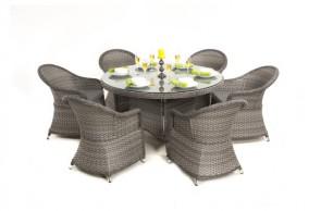 Maze Rattan Victoria 6 Seat Round Dining Set