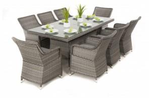 Maze Rattan Victoria 8 Seat Rectangle Dining Set
