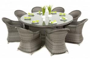 Maze Rattan Victoria 8 Seat Round Dining Set