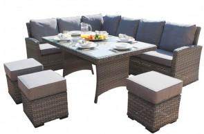 Maze Rattan Victoria Kingston Sofa Dining Set