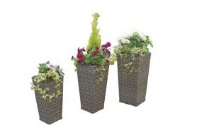 Maze Rattan Victoria Tall Planter Set