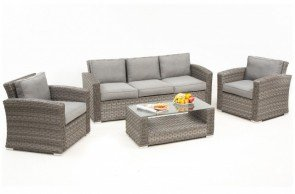 Maze Rattan Victoria 3 Seat Sofa Set