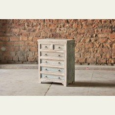 Little Tree Whiteleaf Upcycled Chest of 6 Drawers