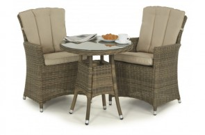 Maze Rattan Winchester 2 Seat Round Dining Set with Carver Chairs