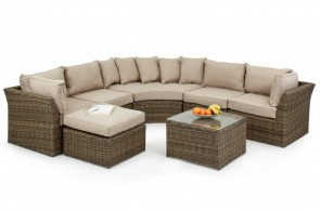 Maze Rattan Winchester Round Corner Sofa Set