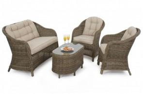 Maze Rattan Winchester Round High Back Sofa Set