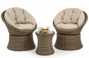 Maze Rattan Winchester Swivel Lounge Set