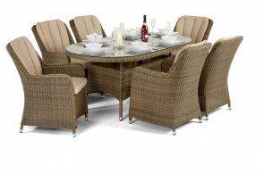 Maze Rattan Winchester Venice 6 Seat Oval Dining Set
